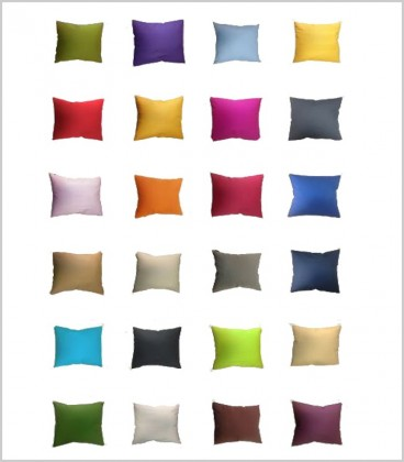 COJÍN LISO (24 colores disponibles)