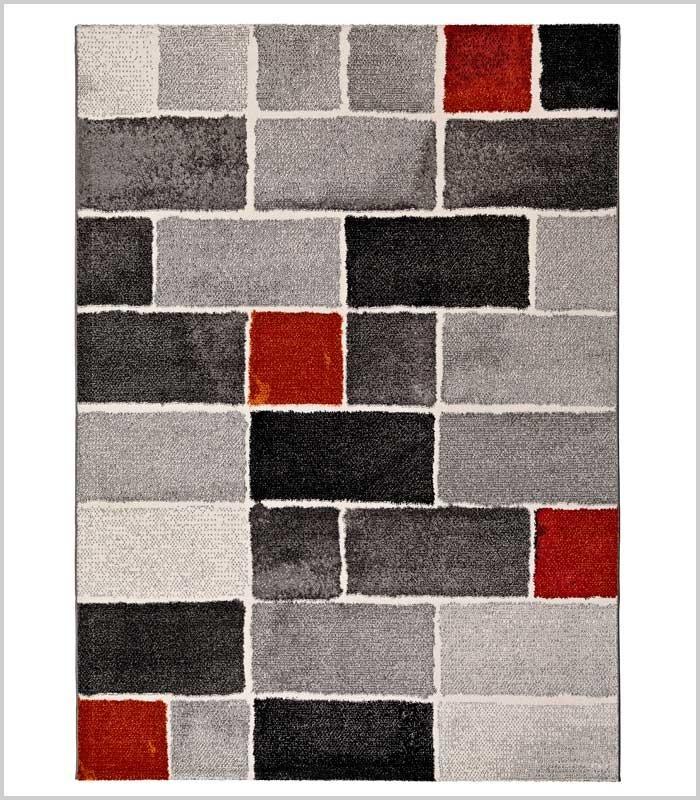 Alfombra roja gris y negra con rect ngulos anre decoraci n for Alfombras de buena calidad