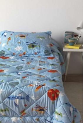 Edredón Comforter Azul Dibujos