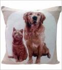 Cojín Mascotas Golden + Gato