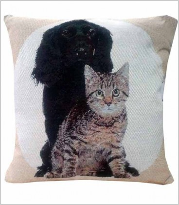 Cojín Mascotas Perro Cocker + Gato