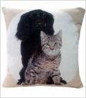 Cojín Mascotas Cocker + Gato
